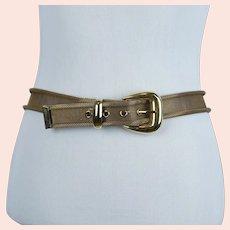 80's Gold Mesh Adjustable Belt