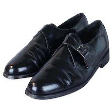 90's Men's Black Monk Strap Shoes by Royal Imperial Florsheim, Sz 10D