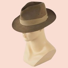 d582ce131ff Reserved for L ** Mens Vintage New Dobbs NY Fedora Sz 7 Feather ...