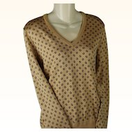 Vintage 1980s Tan Givenchy Sport Signature Sweater Sz M