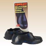 Vintage NOS Rubber overshoes Tingley Hi Top Waterproof in Original Box Sz LG