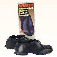 Vintage NOS Rubber overshoes Tingley Hi Top Waterproof in Original Box Sz LG