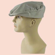 1950s Vintage Mans Hat Khaki Nylon Texon Cap Sz 7 1/8 NOS