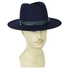 1980s Vintage DMV Hat Virginia State Trooper Navy Blue Hat with Strap Sz 7 1/8