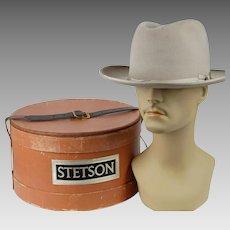 Vintage Silverbelly Open Road Stetson Twenty Five with Original Stetson Hatbox Sz 7 1/4
