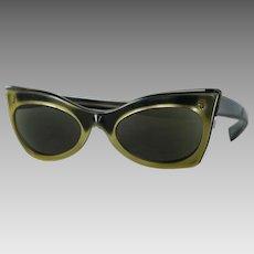 Vintage 1960s Sunglasses Gold Ombre Prescription Eyeglasses by Victory Suntimer