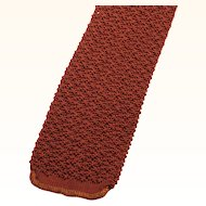 Vintage Copper Knit Skinny Necktie by Fashionknit