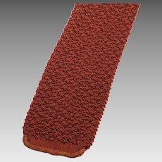 Vintage Copper Knit Skinny Necktie by Fashionknit
