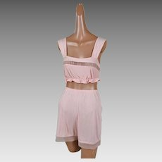 1950s Vintage Shortie Pajama Set by Luxite New Old Stock NWT B32