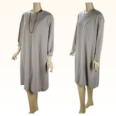 1990s Vintage Dress NOS Taupe Knit Shift by Brownstone Studio Fuller Figure Sz 16P B45 W44 NWT