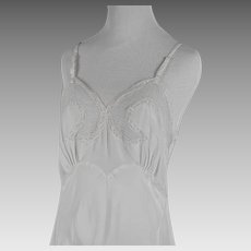1950s Vintage Slip Miss Swank White Rayon and Lace Lingerie NOS NWT Sz 34