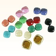 Joan Rivers Signed Vintage Gold-Tone Clip On Earrings with 10 Interchangeable Colors | Original Box