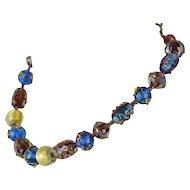 Venezia Murano Glass Beads   Original Box   17 Inch