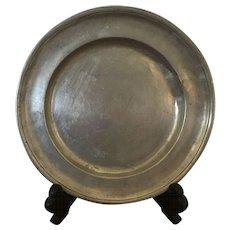 "Pewter Plate - 8-1/2"" diameter"
