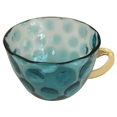"""Blue Thumb Print Cup - 2"""" in height"""