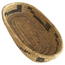"Native American Indian Basket  8-1/4"" Length"