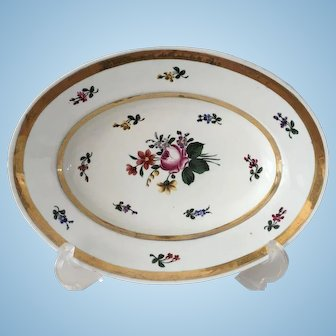 Continental Porcelain Oval Dish - ca: 1800's