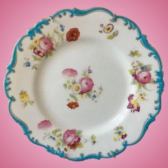"Hand Painted Plate - Hallmark ""Cauldon"" - England"