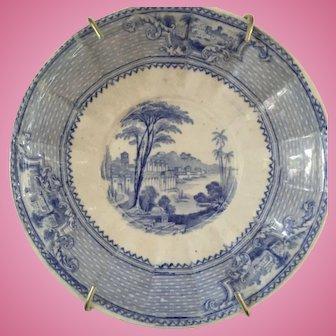 "J Ridgeway Antique Plate - 5-1/2"" Diameter"