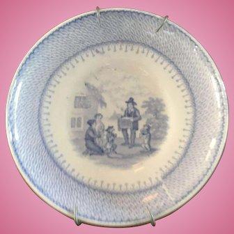 Blue & White Antique Plate - ca: 1800's