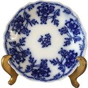 Flow Blue Antique Soup Plate - ca: 1883