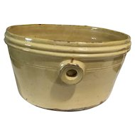French Pottery Antique Bowl Container
