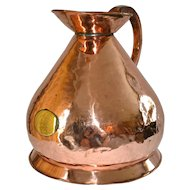 English Copper Ale Jug Circa 1820s