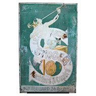 Singer Sewing Machine Metal Advertising Sign France Artwork by Leonetto Cappiello
