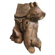 French Wooden Sculpture Cherub Putti 18th Century
