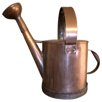 French Copper Garden Watering Can