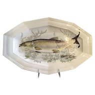 French Porcelain Serving Platter Sea Life Design