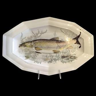 French Porcelain Serving Platter Sea Life Design