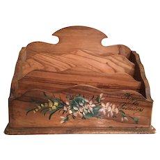 French Wooden Souvenir Letter Holder Box