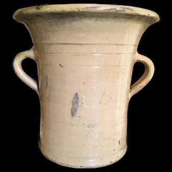 Spanish Pottery Confit Pot Olive Jar Vase Container