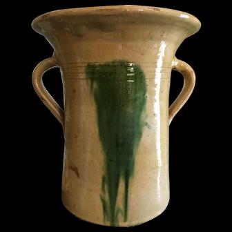 Spanish Pottery Confit Pot Jar Vase