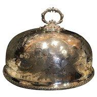 English Silverplate Meat Food Dome Circa 1890