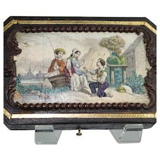 19th C French Sewing Set Etui Case 5 Piece Set