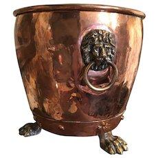 English Copper Jardiniere Cache Pot Container