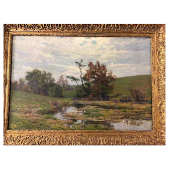 "William Merritt Post c1900 O/C (24"" x 36"")"