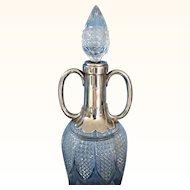 19th C. English Cut Glass Wine Ewer