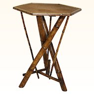 English Bamboo Rectangular Top Tri Table