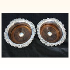 Old Sheffield Plate Wine Coasters