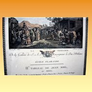 """Engraving, """"Harvest of the Grapes'from Duc of Orleans collection"""