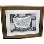 Set of Four French Dept Maps c.1854