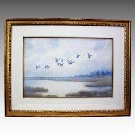 Mallards in Flight, Joseph Day Knapp