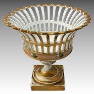 Old Paris Reticulated Basket c.1860