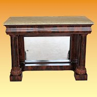 American Classical Carved Mahogany Pier Table, c. 1830, Boston