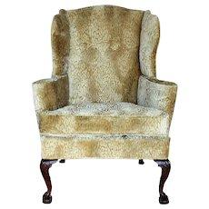 A Fine English George II Walnut Winged Armchair