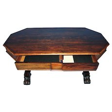 Regency Rosewood Library Table/Desk c. 1860