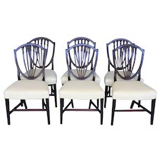 Set Of Six Hepplewhite Shield Back Chairs. C.1790